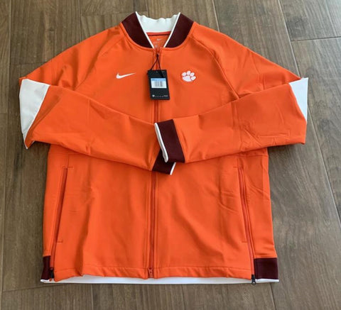New Nike Clemson Tigers Sideline Therma Midweight Full Zip Jacket Mens M