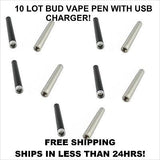 Bud touch pen battery & usb charger(O Pen buttonless) Fast Shipping 10 Lot!