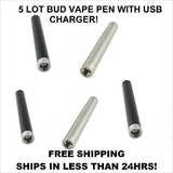 Bud touch pen battery and usb charger(O.Pen buttonless) Fast Shipping 5 Lot New!