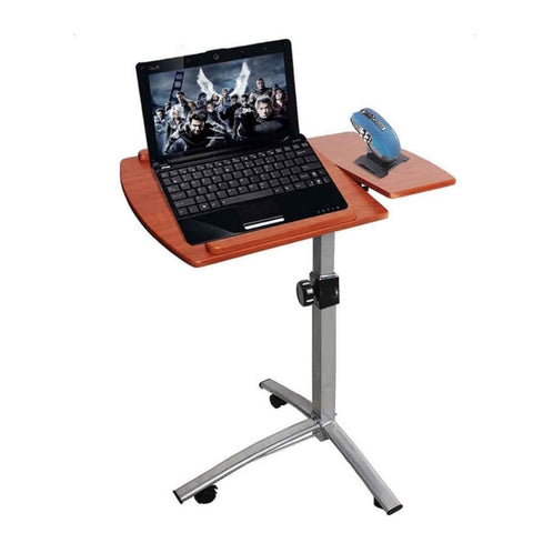 Rolling Laptop Desk Cart Height Angle Adjustable Table Stand