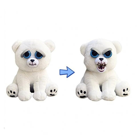 Plush Toys Feisty Pets With Changing Face Stuffed Animal Doll White Bear