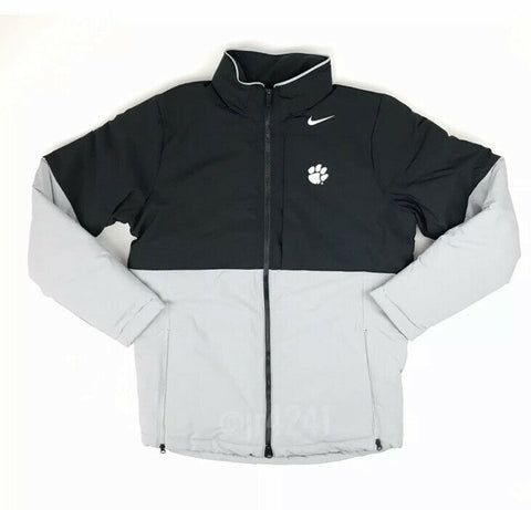 Clemson Tigers Nike Shield Heavyweight Team Jacket Men's M Black Grey AO5970