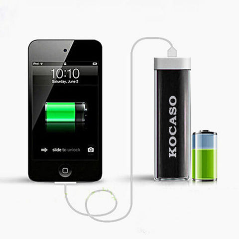 Lipstick Mobile Power Bank 2600mAh With USB Cable!