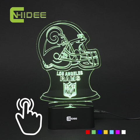 Los Angeles Rams NFL 3D COLOR CHANGING LIGHT