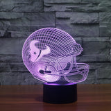 Houston Texans NFL 3D Color Changing Light