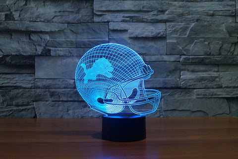 Detroit Lions NFL 3D Color Changing Light