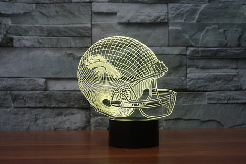 Denver Broncos NFL 3D Color Changing Light