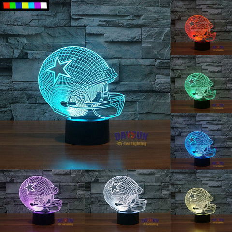 Dallas Cowboys  NFL 3D Color Changing Light