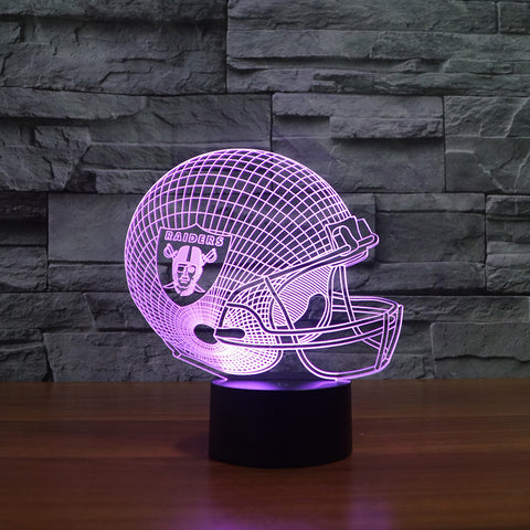 Oakland Raiders NFL 3D Color Changing Light