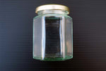 190ml Hexagonal Jar with gold lid