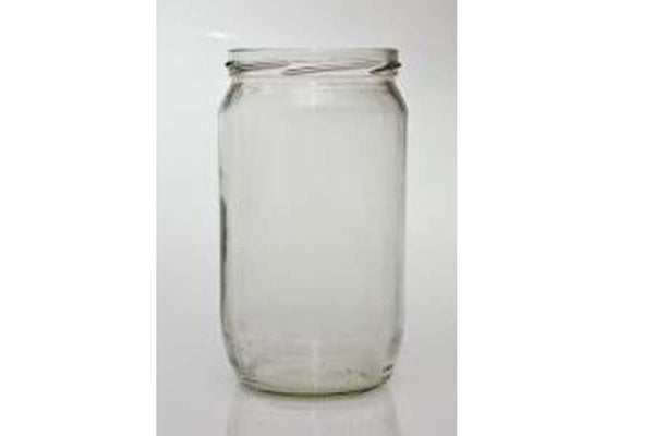 750mL Round Glass Jar