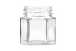 45ml hexagonal glass jar with gold lid
