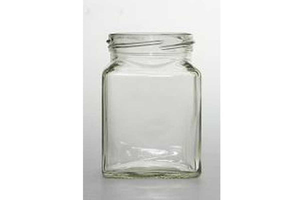 50ml square glass jar with gold lid