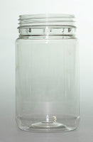 375ml plastic jar with white plastic lid