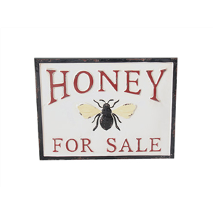 Honey for sale sign - enamel