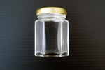 55ml hex glass jar with gold lid