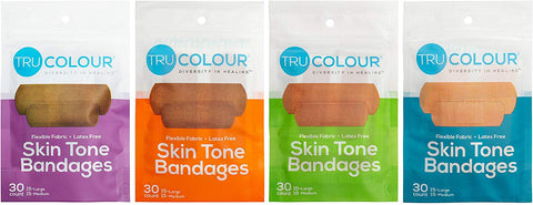 Tru-Colour Skin Tone Bandages Variety 4 Pack (120 Count)