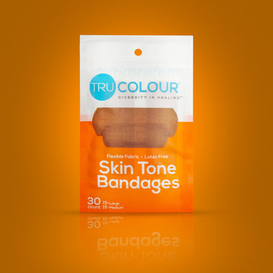 Tru-Colour Skin Tone Bandages: Brown-Dark Brown (Orange Bag)