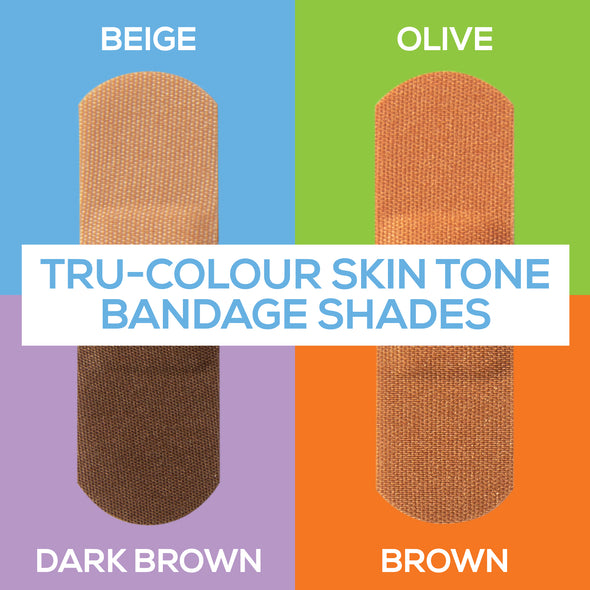 Tru-Colour Skin Tone Bandages Variety 4 Bag (120-Count)