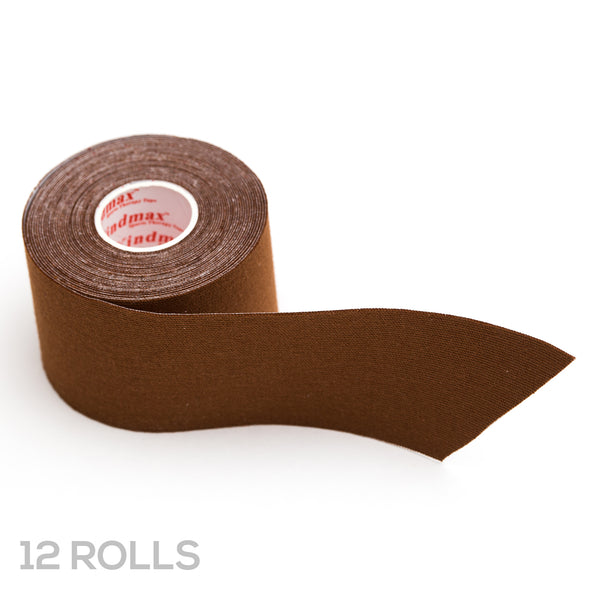Tru-Colour K-Tape for Dark Brown Skin - Case of 12 Rolls