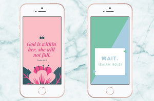 Free Scripture Wallpapers | Psalm 46:5 & Isaiah 40:31