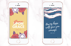 Free Scripture Phone Wallpapers | John 1:16 & Job 18:11