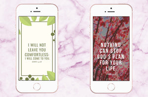Scripture Phone Wallpapers for Spring | Isaiah 14:27 & John 14:18