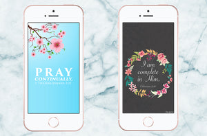 scripture phone wallpapers, 1 thessalonians 5:17, colossians 2:10