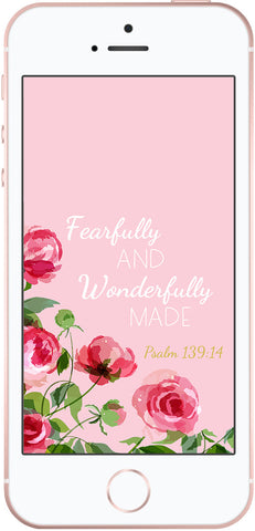 Free Christian Phone Background Wallpaper Fearfully And Wonderfully Made