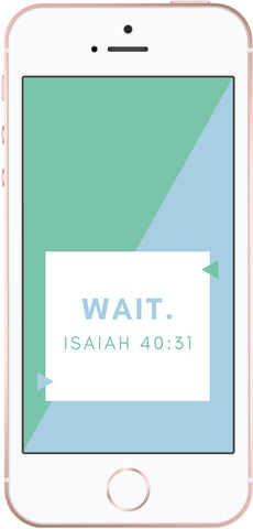 Wait Isaiah 40:31, free scripture phone wallpapers