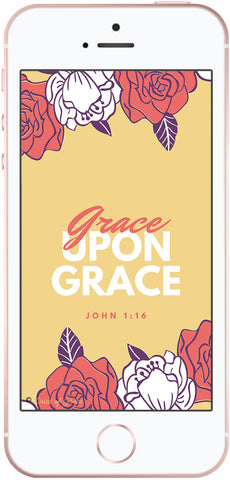Grace upon grace, Christian phone wallpaper