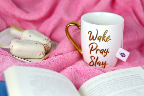 Wake pray slay mug, Christian coffee mug, Christian gifts, Doses of Grace