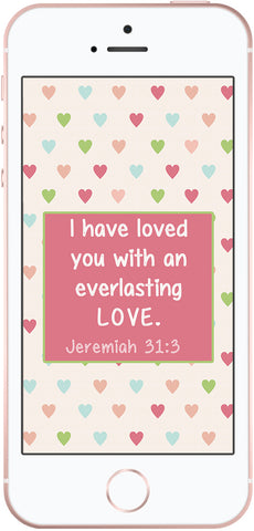 scripture phone wallpaper, jeremiah 31:3