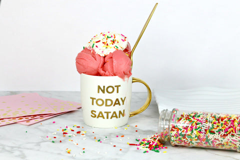 Not today satan mug, Christian coffee mug, Doses of Grace