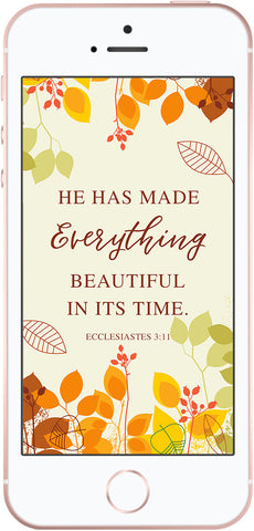 Free Scripture Phone Background for Fall