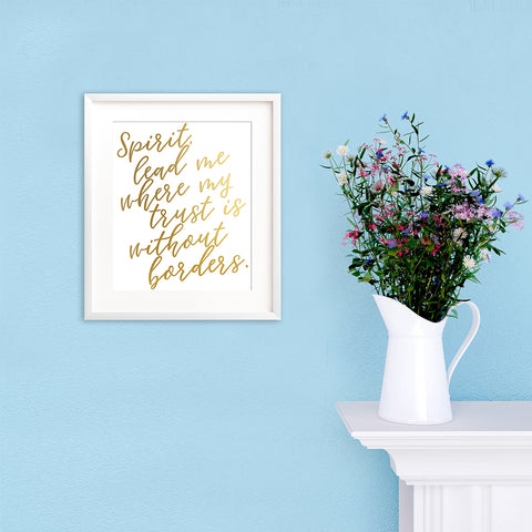 how to add inspiration to your home, christian home decor, gold foil prints