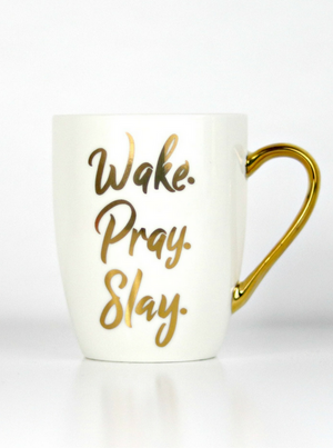 Wake Pray Slay & Not Today Satan Mug Bundle