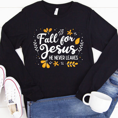 Fall for Jesus Long Sleeve Shirt