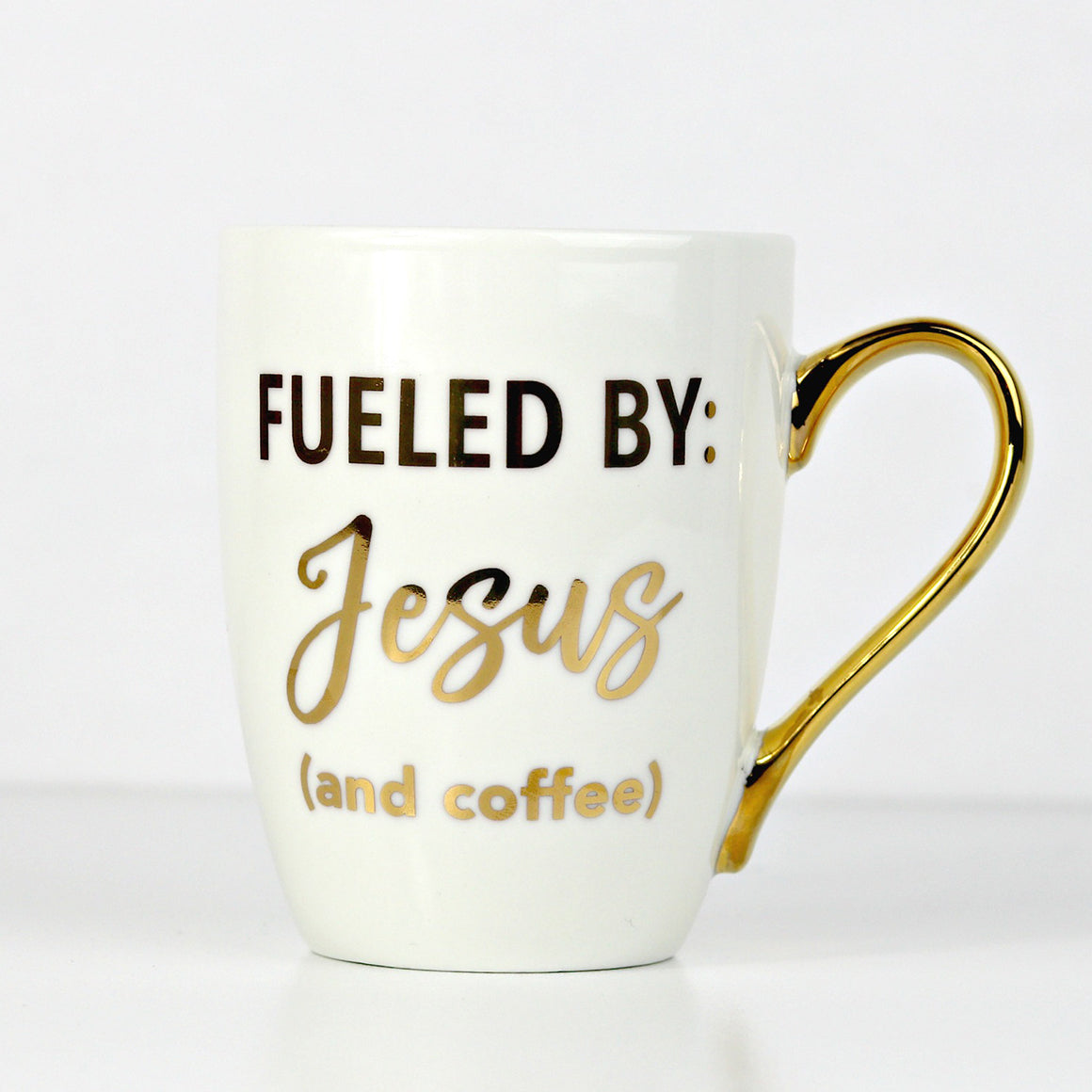 Fueled by Jesus and coffee, Christian coffee mug, Doses of Grace