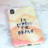 He makes me brave phone case, scripture phone case