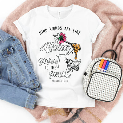 Kind Words Are Like Honey | Kid's Coloring Tee