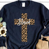 Blessed Leopard Cross Sweatshirt