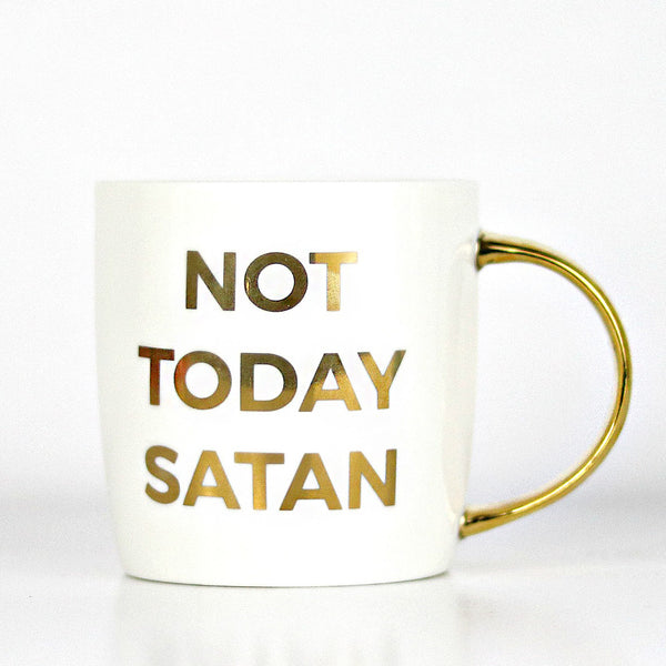 Not Today Satan Christian Coffee Mug Doses Of Grace