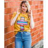 Serape Cross Tee