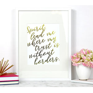 Spirit Lead Me | Framed Print