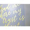 Spirit Lead Me | Gold Foil Print