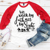 Walk By Faith Christmas Raglan