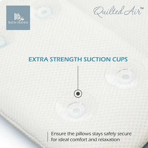 spa bath pillow extra strength suction cups