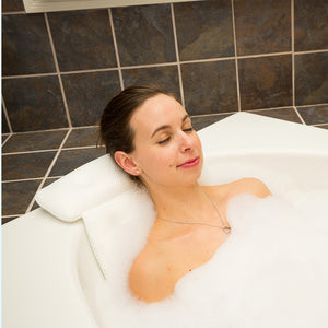 spa bath pillow relaxing bath