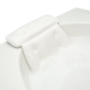 spa bath pillow secure placement
